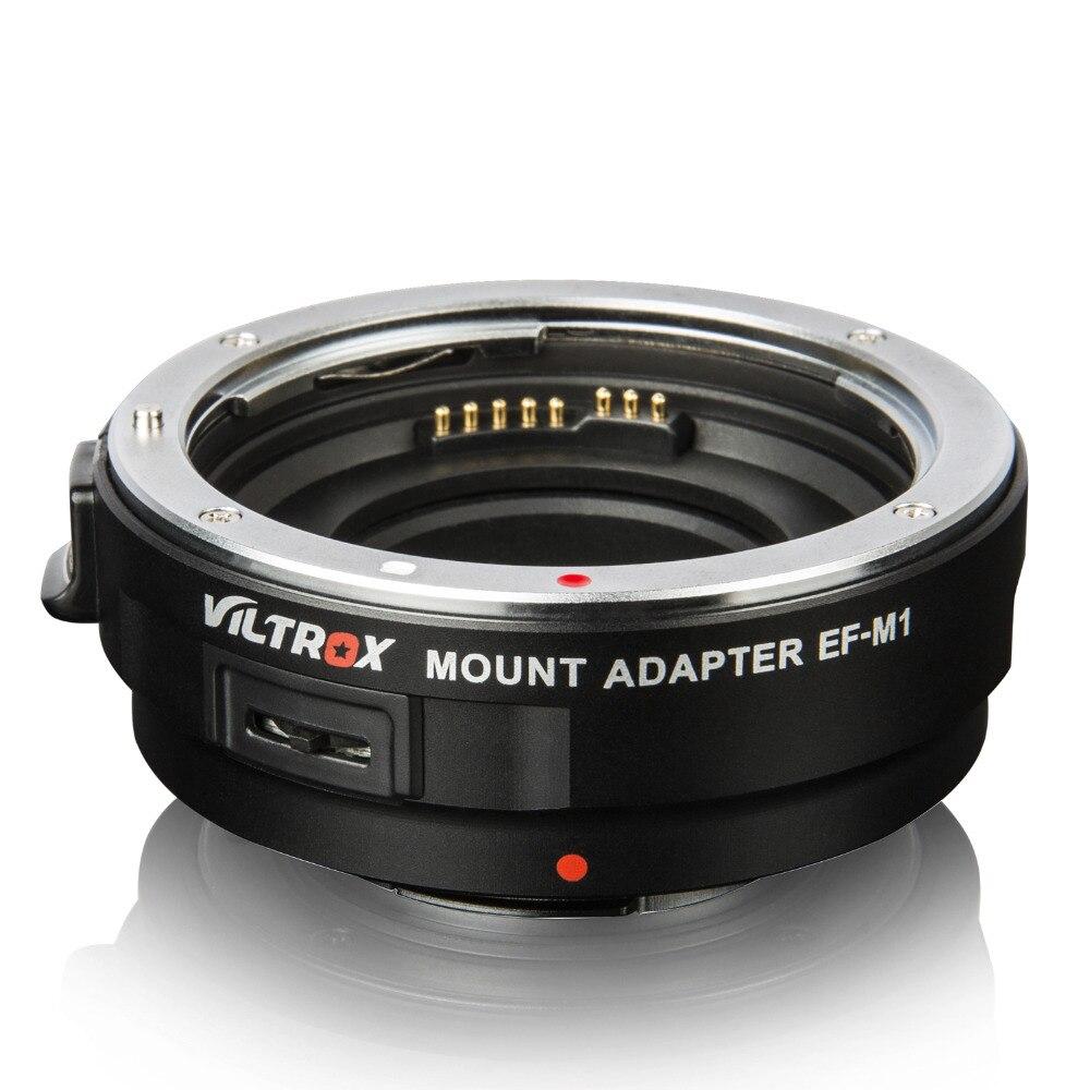 Viltrox EF-M1 Auto lentille focale adaptateur de montage pour Canon EF/EF-S Lentille à M4/3 Caméra GH4 GH5 GF6 GX7 e-M5 E-M10II E-PL5 GX85 PEN-F