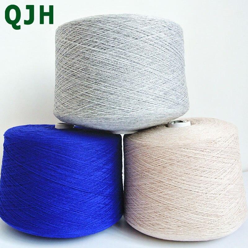 Qualité supérieure 100% fils de cachemire 500 g/pcs écologique teint luxueux pur fil de laine de chèvre 26/2 tissé et tissé à la main fil