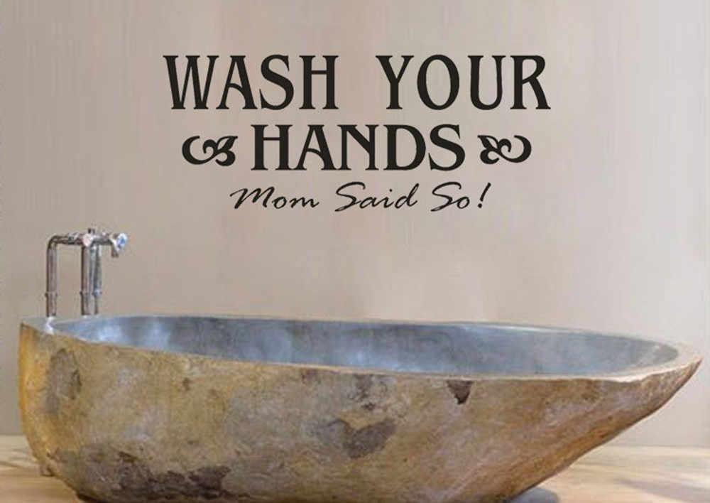 Lavar a mão DIY Arte Adesivos de Parede Vinil Removível Decalques Mural Sofá Parede Lettering Citação Arte Decalques Cartaz Casa Decoração