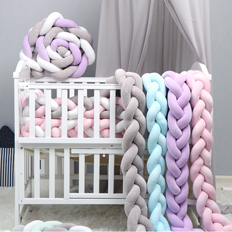 Customize Baby Crib Protector Knot Baby Bed Bumper Weaving Plush Infant Crib Cushion For Newborn Bebe Bed Bumper Baby Room DecorCustomize Baby Crib Protector Knot Baby Bed Bumper Weaving Plush Infant Crib Cushion For Newborn Bebe Bed Bumper Baby Room Decor