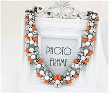 Moda Vintage Declaración de Collares y Colgantes para Las Mujeres Simulado Flor de La Perla Gargantilla Collier Femme Collares Jewerly