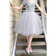 WDPL Pretty Silver Tutu Skirt Custom Made Knee Length Women