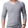 Пуловеры Новый мужской Свитер Вязание Зима Blusas Masculina Мода 2015 Осень Повседневная Трикотажные Slim Fit Топы TC683