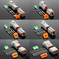 Conector bonde impermeável de 1 conjunto do conector DT06-2S/DT04-2P 2 p 3 p 4 p 6 p 8 p 12 p de dt para o caminhão do motor do carro com pinos