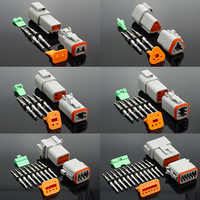 1 juego conector DT DT06-2S/DT04-2P 2P 3P 4P 6P 8P 12P conector eléctrico resistente al agua para coche motor camión con pines