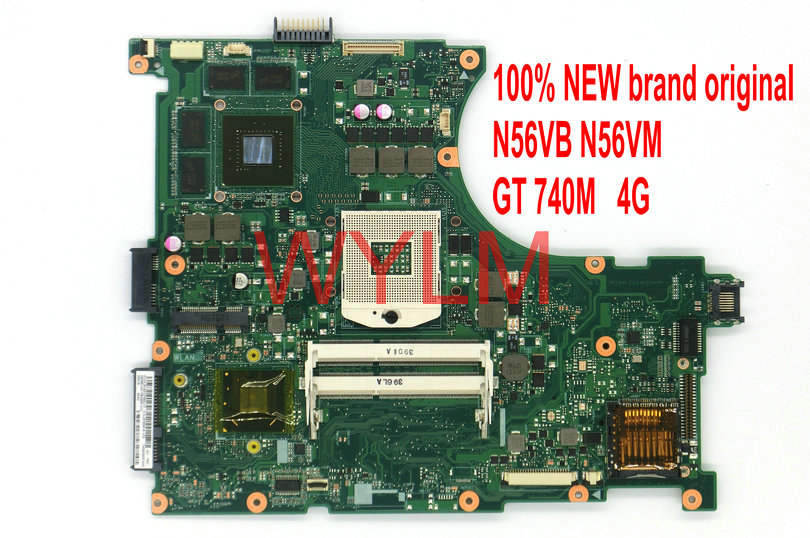 free shipping NEW original N56VB N56VM motherboard mainboard MAIN BOARD REV 2.3 GT740M 4G VGA video memory 100% Tested Working free shipping new original n53s n53sv laptop motherboard main board mainboard rev 2 2 usb 3 0 n12p gt a1 100