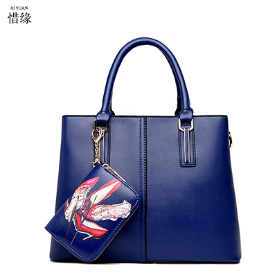 women handbag with straps girls high quality PU leather tote bag female retro shoulder messenger HAND bags blue/gold/red/black