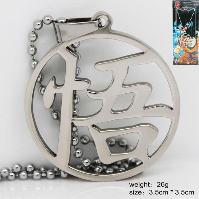 Dragon Ball Z Sun Goku Metal Pendant Necklace