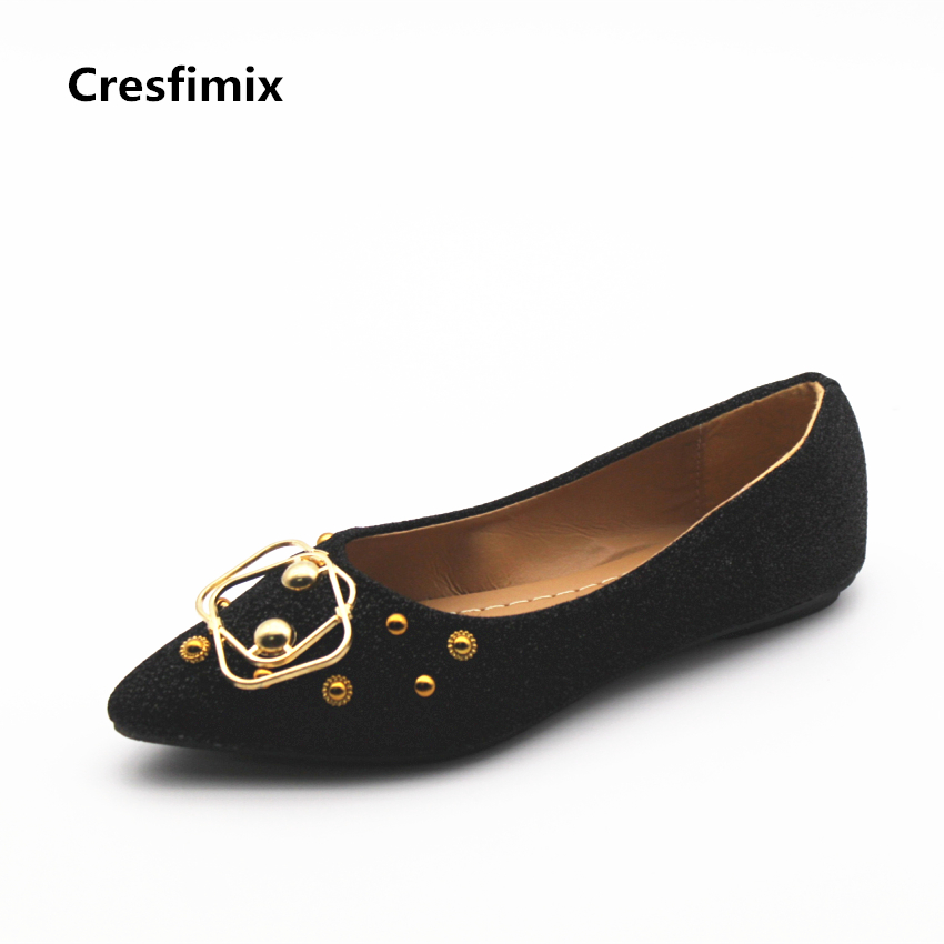 Cresfimix femmes mignonnes chaussures plates women cute spring slip on flat shoes lady casual summer flats lady cool soft shoes cresfimix sapatos femininos women casual soft pu leather pointed toe flat shoes lady cute summer slip on flats soft cool shoes