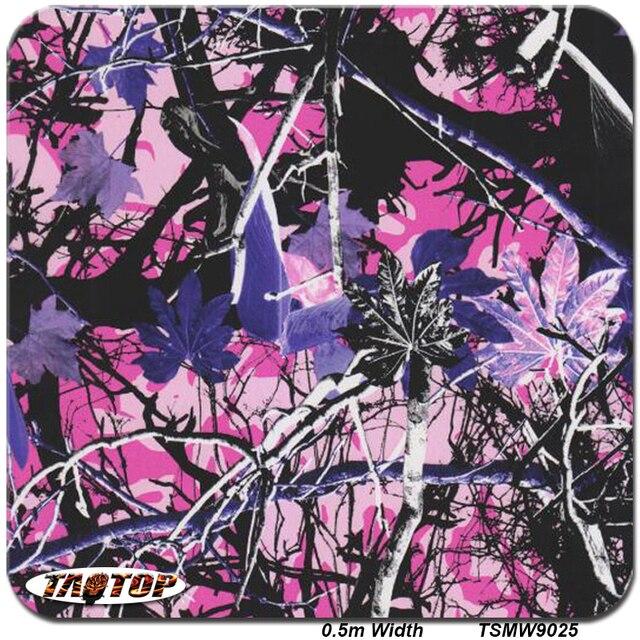 TSMR9025  0.5M * 10M Popular Purple Tree Camo leaves Hydro Dipping Film Water Print Transfer Printing Hydrographics Film