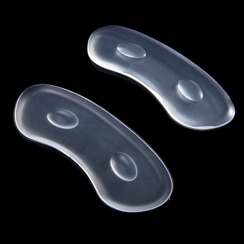 1Pair Women Female Strip Heel Stick Massage Pedicure Inserts Shoes Liner Silicone Gel Pads For Feet Protector Foot Care Tool