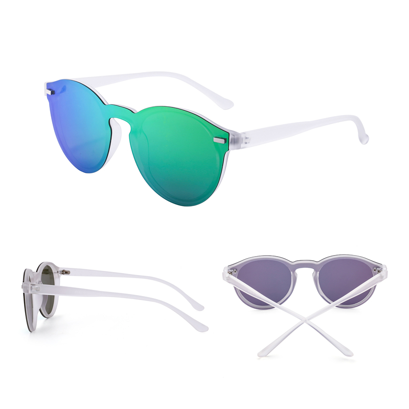 Jim Halo One Piece Polarized Rimless Mirror Reflective Circle Lens - Aksesori pakaian - Foto 3