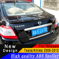 For Nissan Teana/Altima 2008 to 2012 spoiler High quality ABS spoiler Primer or any color rear spoiler for Teana/Altima