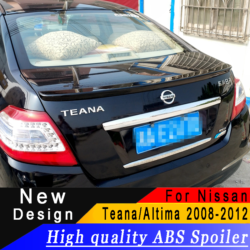 For <font><b>Nissan</b></font> <font><b>Teana</b></font>/Altima <font><b>2008</b></font> to 2012 spoiler High quality ABS spoiler Primer or any color rear spoiler for <font><b>Teana</b></font>/Altima image