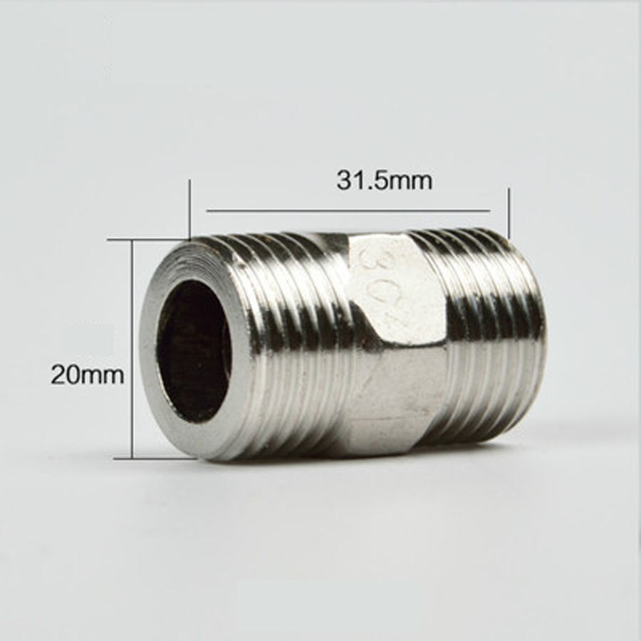 Sanitär Rohrverbindungsstücke Offen Dn15 1/2 bsp Männlichen Hex Nippel Rohr Fitting 201 Edelstahl Länge 31,5mm ZuverläSsige Leistung