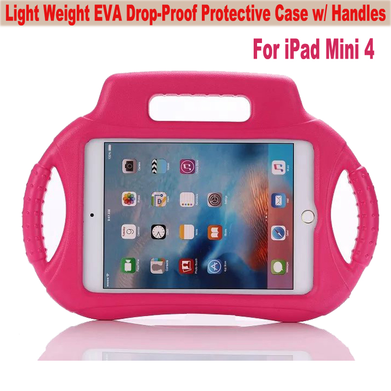 SAFEKIDS Series Drop Protection EVA Children Durable Shockproof Kids Friendly Case Cover W/ Handle for Apple iPad Mini 4 7.9