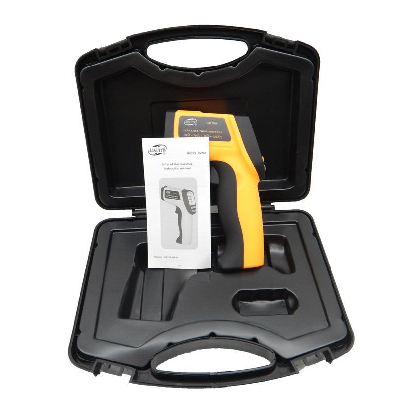 Non-Contact IR Laser Infrared Thermometer GM700 -50-750 Degree 12 : 1 temperature Tester Gun point With carry box  цены