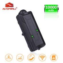 IPX7 TK10 Posição GPS Rastreador Do Carro GPS GSM WI FI À Prova D Água Ímã Rastreador SD Logger De Dados Offline Rastreamento 10000mAH Da Bateria