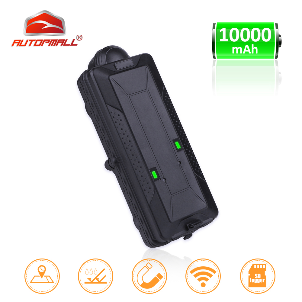 TK10 GPS GSM WIFI Position GPS Tracker Car Waterproof IPX7 Magnet Rastreador SD Offline Data Logger Tracking 10000mAH Battery-in GPS Trackers from Automobiles & Motorcycles