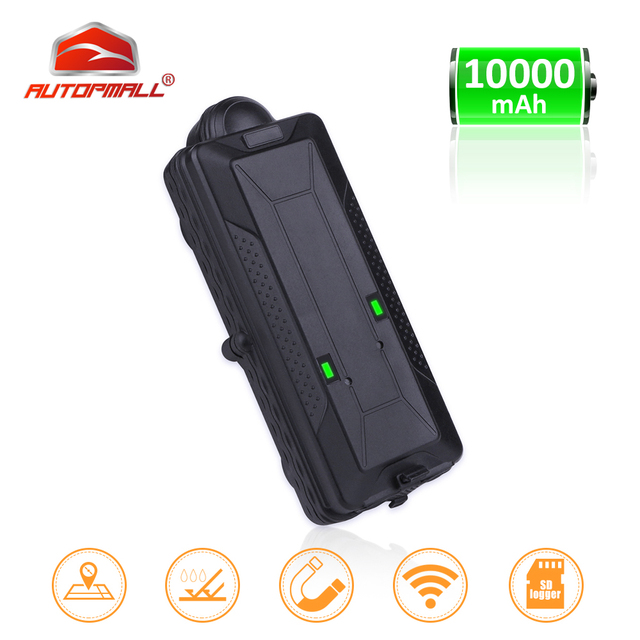 TK10 GPS GSM WIFI Position GPS Tracker Car Waterproof IPX7 Magnet Rastreador SD Offline Data Logger Tracking 10000mAH Battery