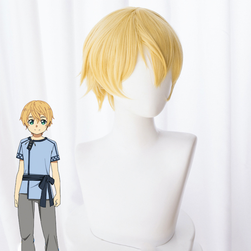 Anime Sword Art Online: Alicization Cosplay Wig Eugeo Cosplay Wig Heat Resistant Synthetic Wig Halloween Carnival Party Cosplay