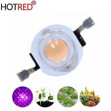 50pcs 3W 45mil 400nm 840nm Hydroponice Volledige Spectrum led grow light chip High Power Lamp COB Diode Kralen voor indoor Plantengroei