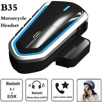 Waterproof B35 Multi BT Interphone Motorcycle Bluetooth Helmet Intercom Intercomunicador Moto Interfones Headset FM Radio Kit