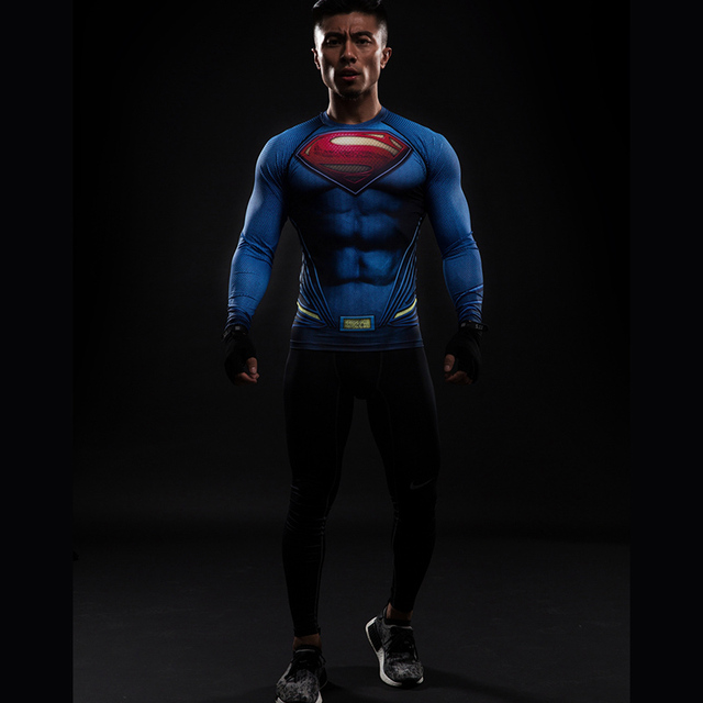 Compression ShirtSuperman 3D Printed