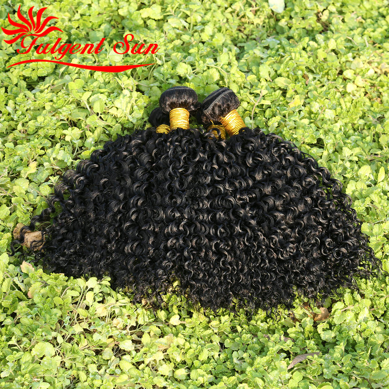 6A GRADE Unprocessed Mongolian Kinky Curly Virgin font b hair b font weaves 3pcs mongolian jerry
