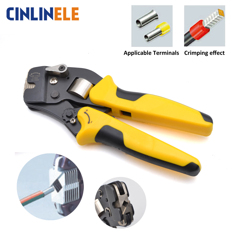 0 08 16mm 11 5AWG Exquisite Adjustable Precise Crimp Pliers VE Tube Bootlace Terminal Crimping Hand