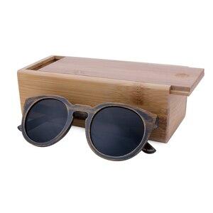 Image 4 - BerWer Round Frame Bamboo Sunglass 2020 Fashion Wooden Sunglasses Men Women Sun Glasses