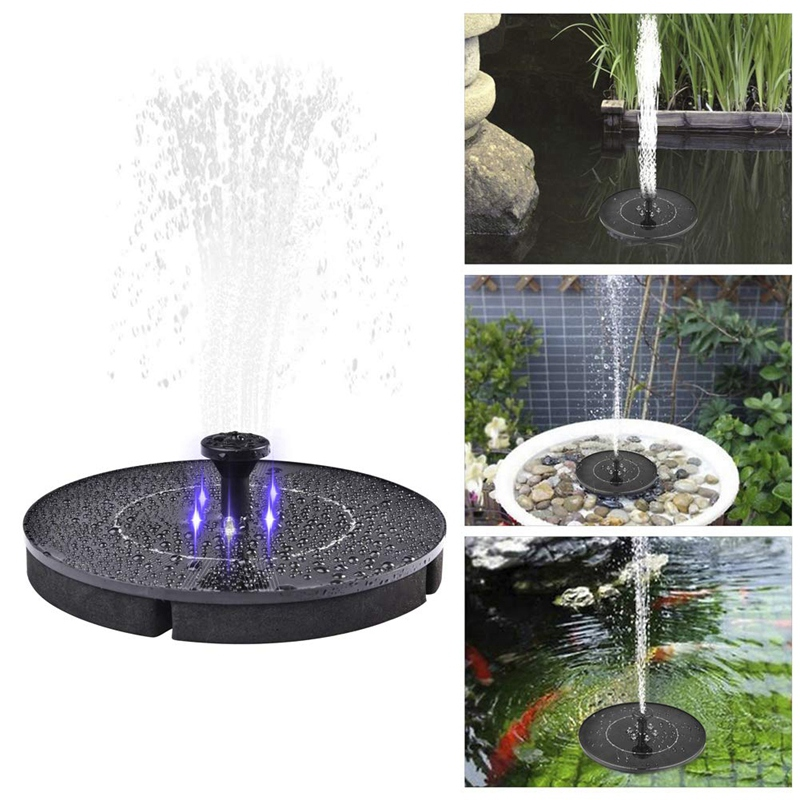 Image 5 - 2.4W LED Solar Fountain Watering Kit Power Solar Pump Pool Pond Submersible Waterfall Floating Solar Panel Water Fountain Pump-in Pumps from Home Improvement