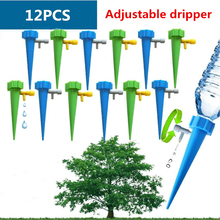 hot deal buy 12pcs/lot adjustable automatic watering irrigation kits indoor houseplant spikes plant potted flower energy saving environmental