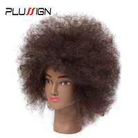 Afro Natural Hair Mannequin Head 100 Human Hair Hairdresser Training Head With Clamp Kit For Hair Cutting Styling For Practice