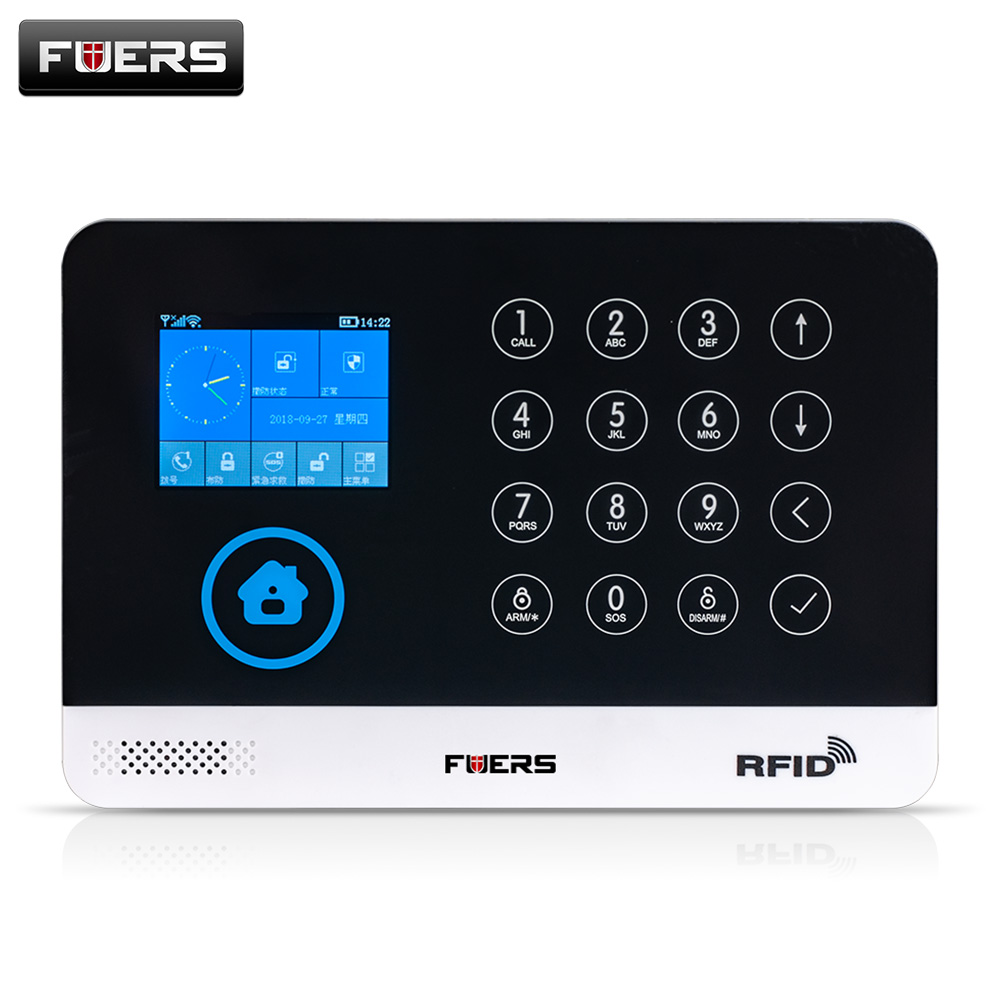FUERS Security Wireless Home GSM WIFI Alarm Intelligent APP Andriod IOS Alarm system home security alarms