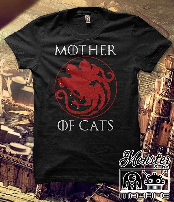 כפרי מזדמן חולצות אמא של חתולים harajuku Tees Tshirts נשים חולצות & Tees קצר שרוול בתוספת גודל נקבה T חולצות נשים