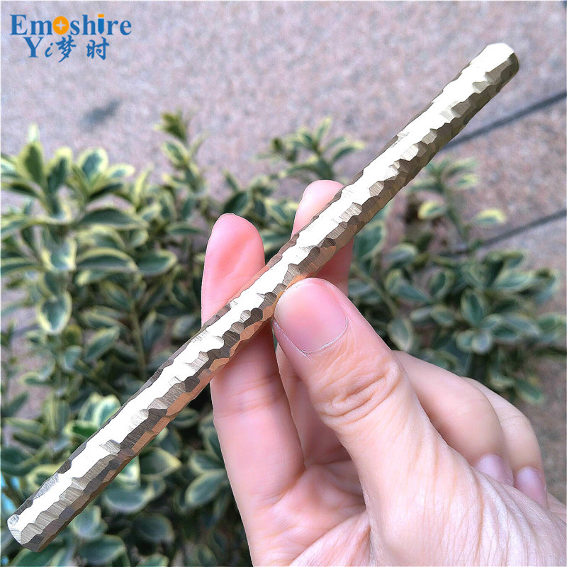 Emoshire Handmade stone bronze pen signature pen personality brass pen metal neutral pen custom couple student gift gift (4)