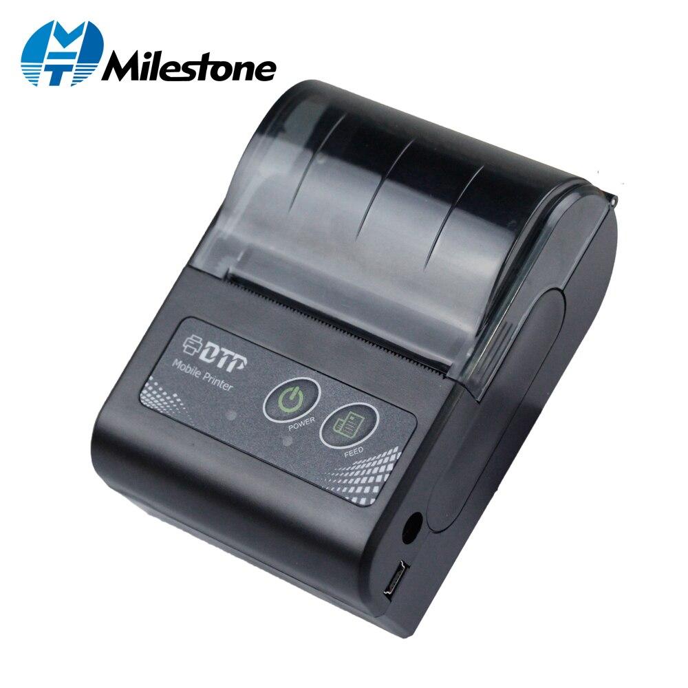 Milestone Mini Bluetooth Printer Thermal Printer ticket receipt USB Portable Wireless Windows Android IOS Pocket small 58mm