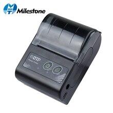 Milestone миниатюрный bluetooth-принтер термальность принтер карман Портативный получения билетов USB беспроводной оконные рамы Android IOS мини 58 мм 2019