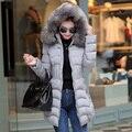 Básico das mulheres casacos casaco de inverno manteau femme abrigos mujer jaqueta feminina casaco feminino casaco longo para baixo parka com capuz coreano