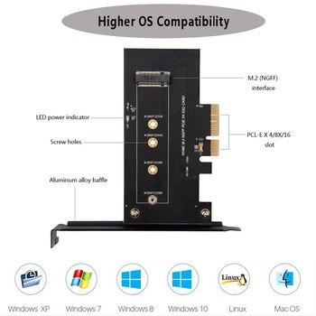 M.2 PCIe Adapter M2 NGFF SSD NVME M Sleutel SATA-gebaseerd B Sleutel Pci-e 3.0X4X8X16 2230-2280 Size M.2 Ssd Controller Converter Kaart