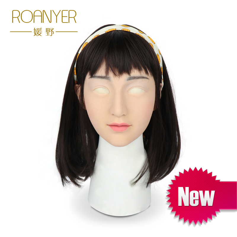 Roanyer crossdresser mammaires en silicone artificielle trans masque réaliste transgenres latex sexy cosplay pour mâle halloween masques