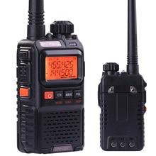 Nueva baofeng uv-3r Plus Two 2 Vías de Radio Interfono Portátil Mini Walkie Talkie De Radio de Doble Banda Vhf Uhf Móvil de Radio Marina