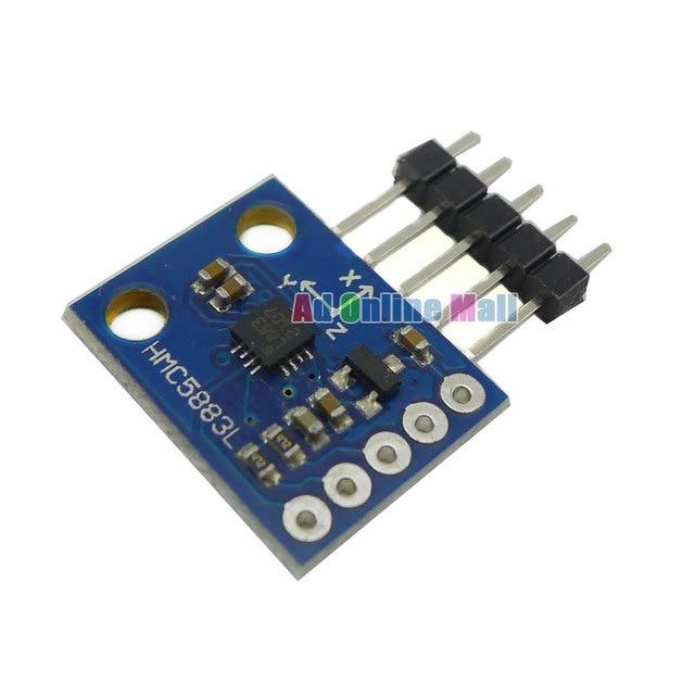 10PCS/LOT GY-273 Electronic Compass Module HMC5883L Triple Axis Compass Three-axis Magnetic Field Sensor