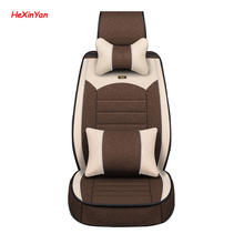 HeXinYan Universal Flax Car Seat Covers for Acura all models RDX TLX RL RLX TLX-L TL ZDX ILX CDX auto accessories car styling 2xcar door logo lights courtesy shadow laser for honda acura mdx rlx tl tlx zdx