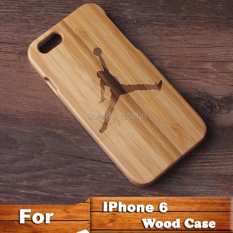 Natural handmade Jordan Pattern wooden wood case True bamboo cover Apple Iphone 6 4.7'' iphone plus 5.5'' - Shenzhen Tonghua Weiye Technology Co.,Ltd store