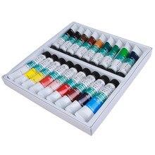 Hot Sale 18 Colors Pro Acrylic Nail Paints Flowers Pigment Nail Art Polish 3D Paint Decor Design Tips Tube Set