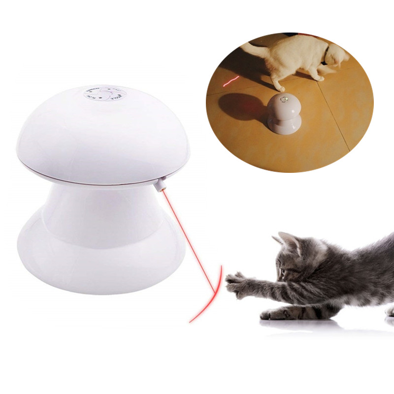 ABS 360 градусов кошка автоматическая Дартс Лазерная световая игрушка котенок интерактивный для щенков забавные игрушки для упражнений кошка