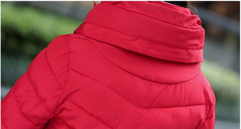 Winter Jacket Women Parkas Thicken Outerwear solid hooded Coats Short 37