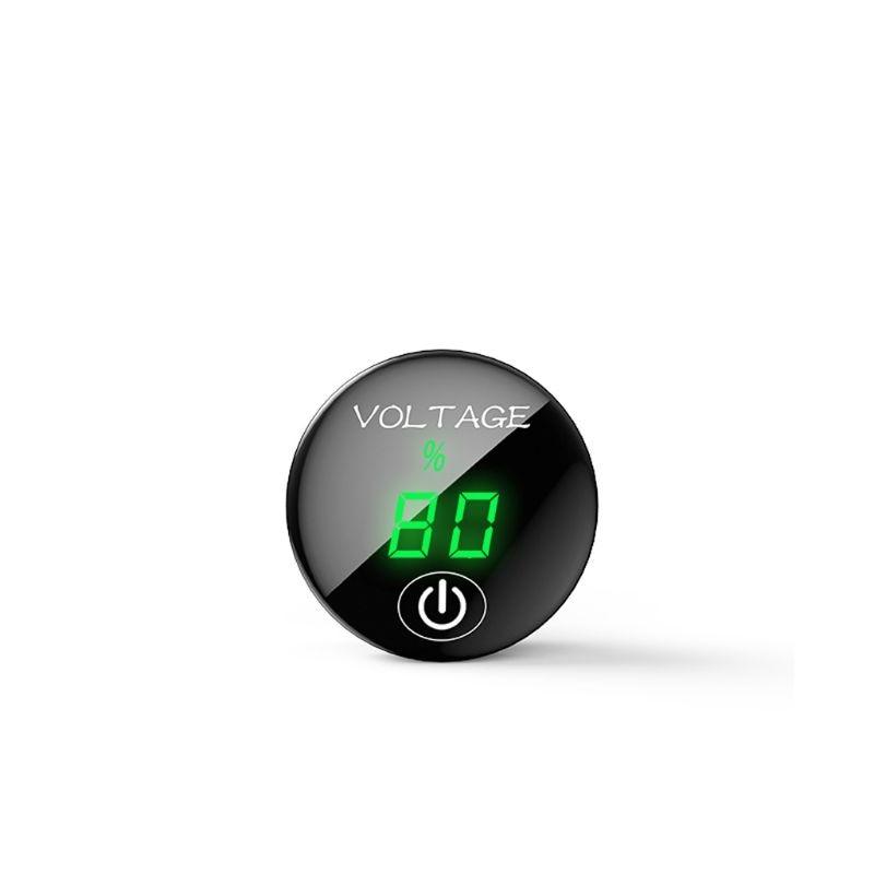DC 5 V-48 V светодиодный Панель цифровой Напряжение метром автомобильный Мотоциклетные батареи Ёмкость Дисплей вольтметр с сенсорный переключатель включения/выключения - Цвет: green led